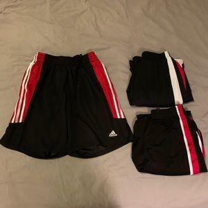 Black and Res Basketball Shorts